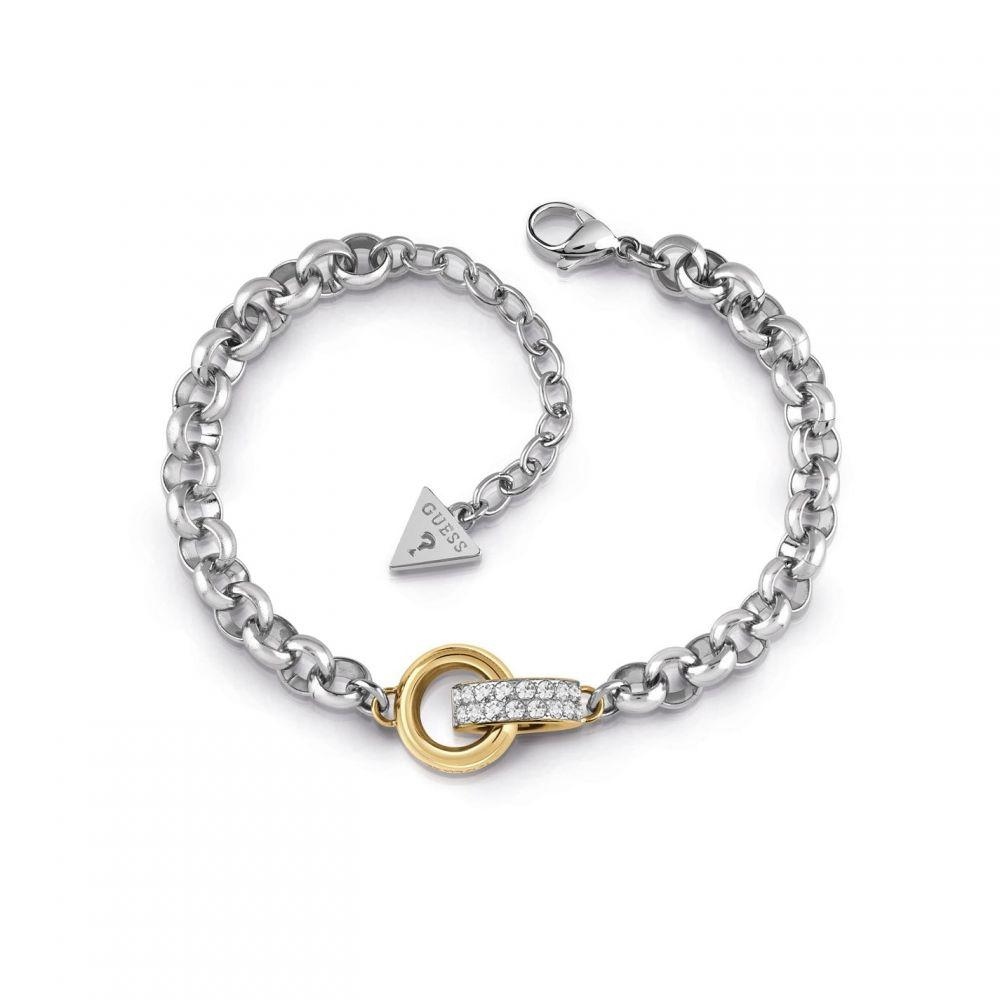 ゲス Guess レディース ブレスレット ジュエリー・アクセサリー【Crystal Ring Detail Bracelet】METALLICS