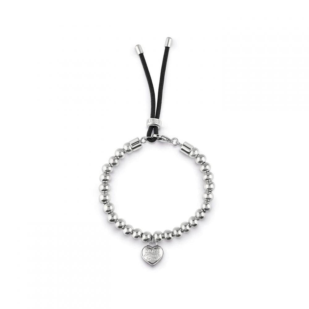 ゲス Guess レディース ブレスレット ジュエリー・アクセサリー【Friendship Logo Bracelet】METALLICS