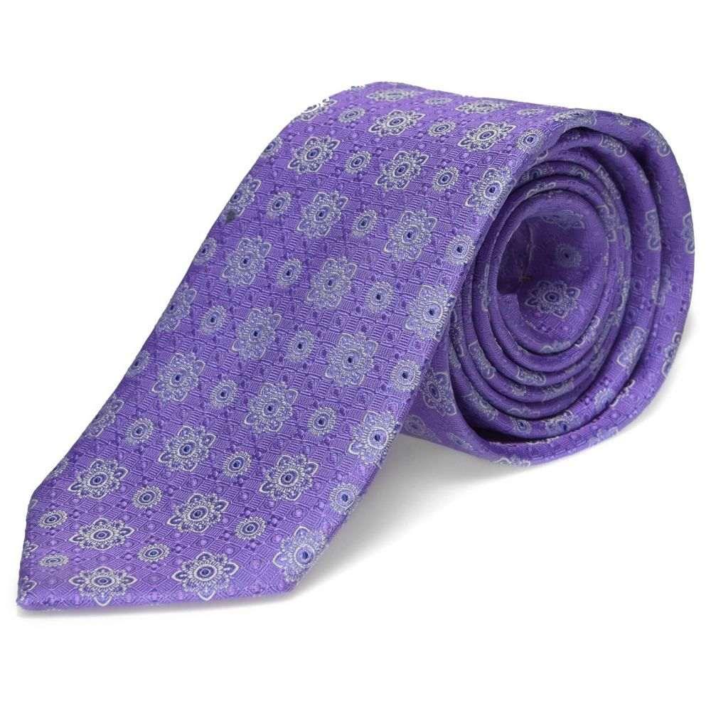 イートン Eton メンズ ネクタイ 【Geo Floral Tie Sn94】Lilac