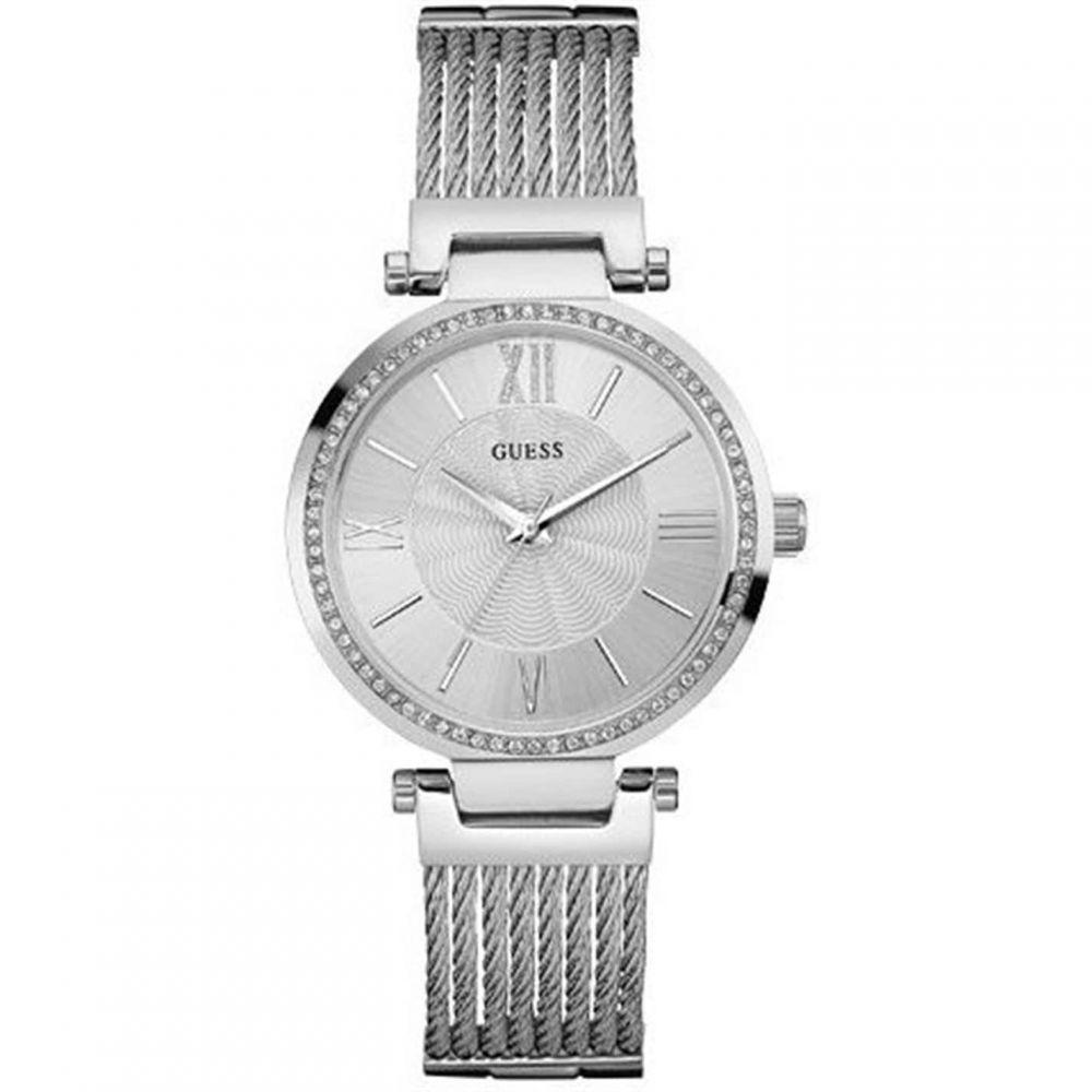 ゲス Guess レディース 腕時計 ブレスレットウォッチ【GUESS silver watch with wire bracelet】METALLICS
