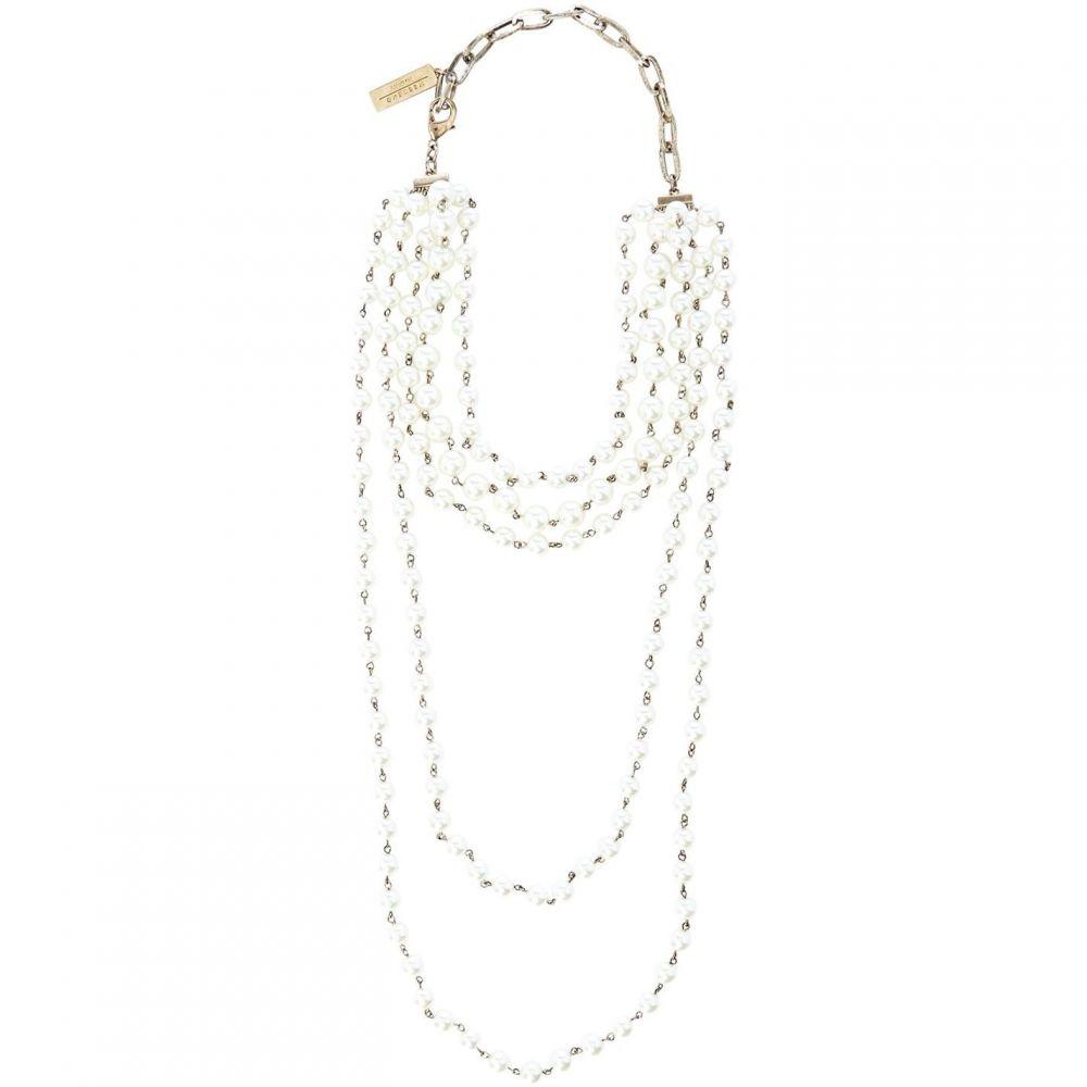 マックスマーラ Max Mara Weekend レディース ネックレス ジュエリー・アクセサリー【Matassa multi pearl long necklace】White