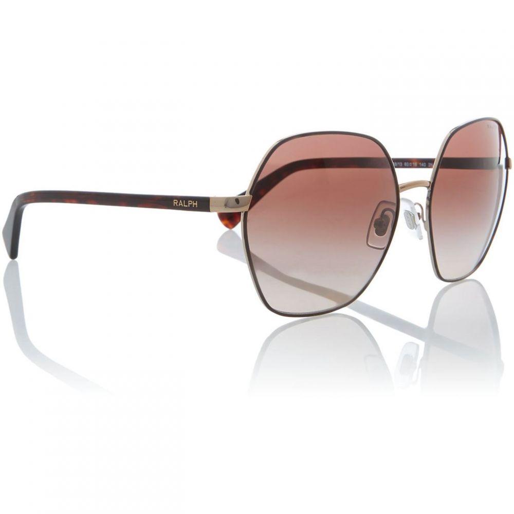 ラルフ ローレン Ralph Lauren メンズ メガネ・サングラス 【Shiny Brown With Brown Ra4124 Irregular Sunglasse】Shiny Havana