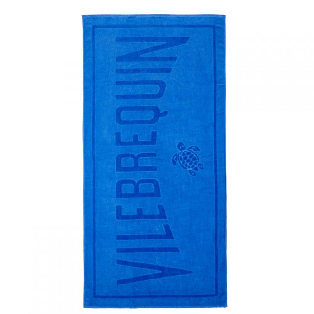 ヴィルブレクイン VILEBREQUIN メンズ ビーチタオル 水着・ビーチウェア【Tort Beach Towel】Sea Blue