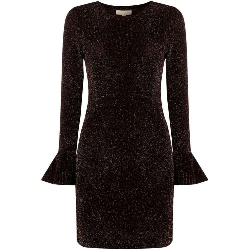 マイケル コース MICHAEL Michael Kors レディース ワンピース ワンピース・ドレス【Bodycon flounce sleeve dress】Black