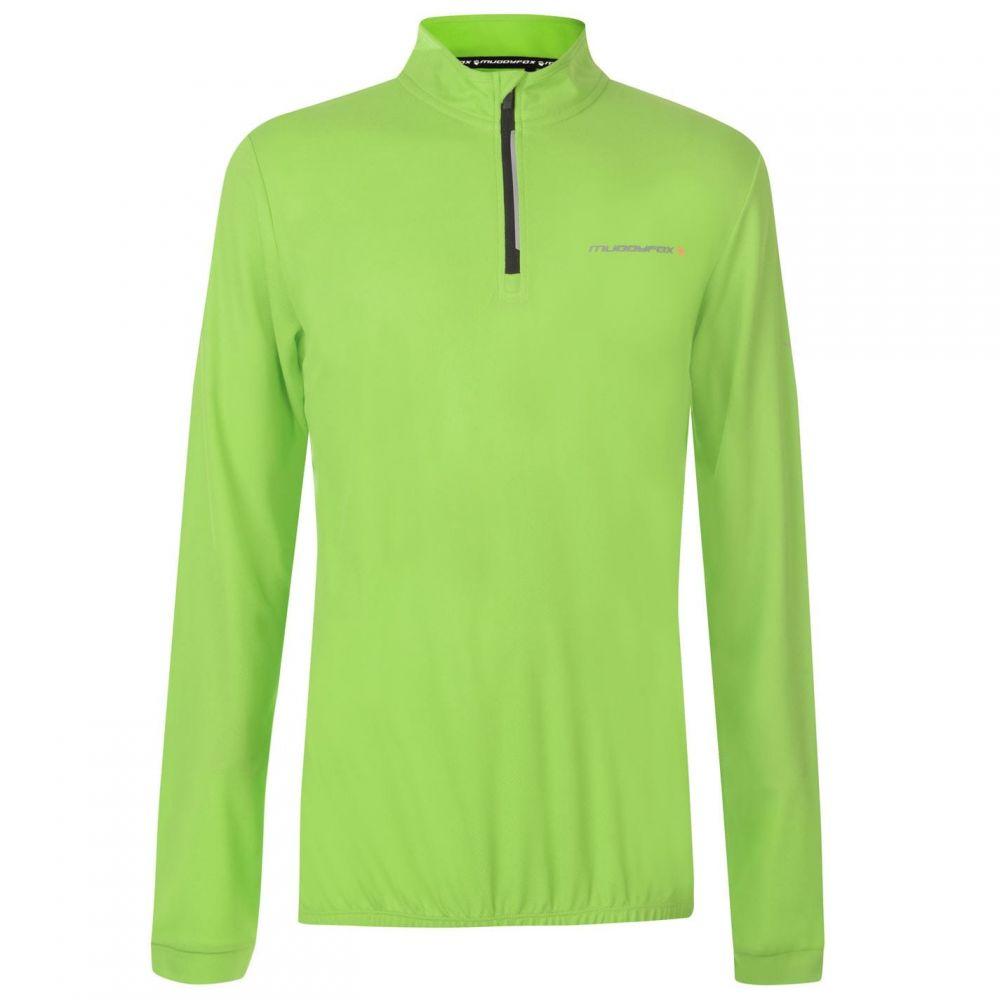 マディフォックス Muddyfox メンズ 自転車 トップス【Cycling Long Sleeve Jersey】Green/Black