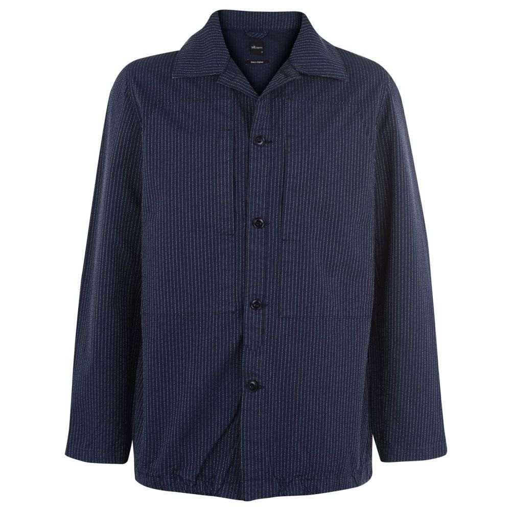アルバム Albam メンズ シャツ トップス【Sail Shirt】Indigo Stripe