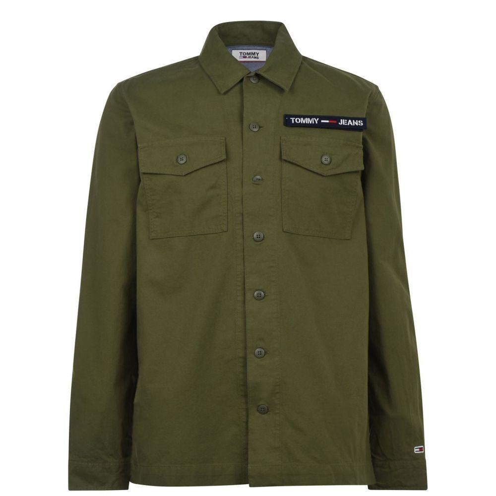 トミー ジーンズ Tommy Jeans メンズ シャツ トップス【Velco Long Sleeve Shirt】Cypress