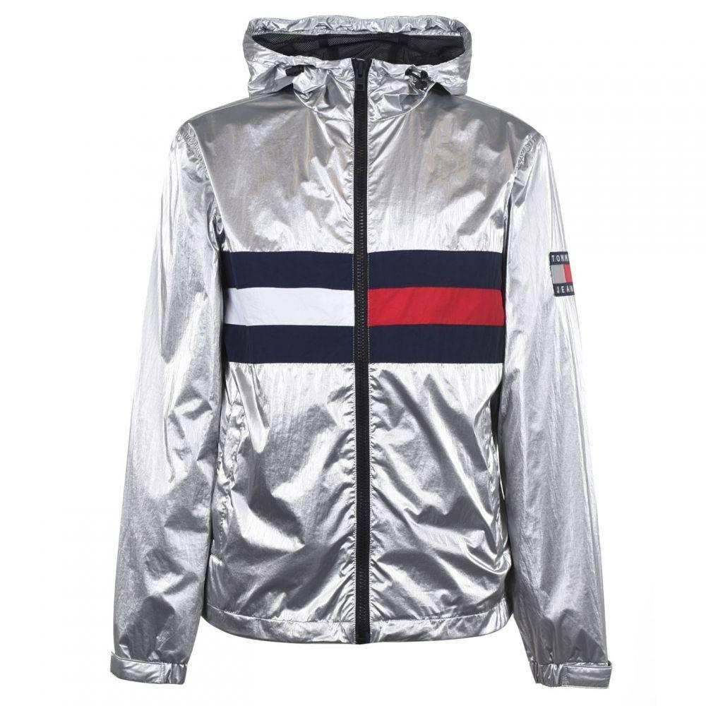 トミー ジーンズ Tommy Jeans メンズ レインコート アウター【Metallic Lightweight Rain Jacket】Metallic
