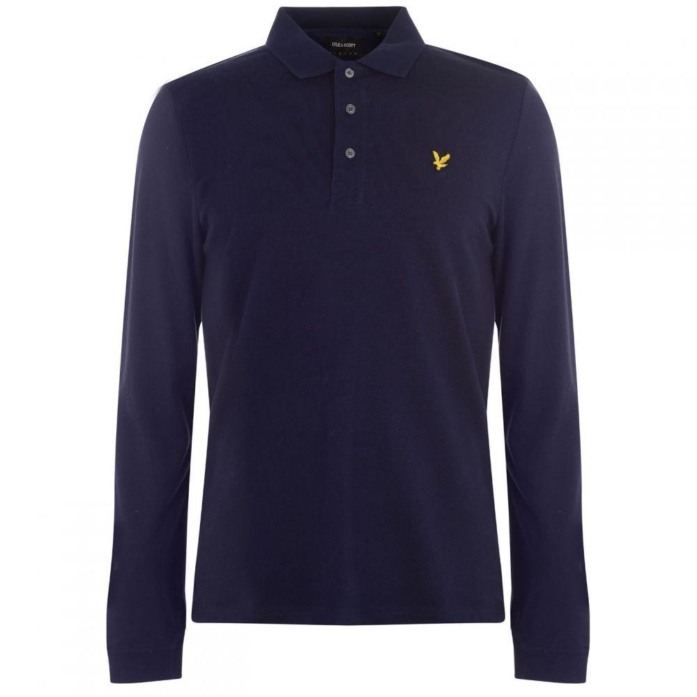 ライル アンド スコット Lyle and Scott メンズ ポロシャツ トップス【Long Sleeve Polo Shirt】Navy