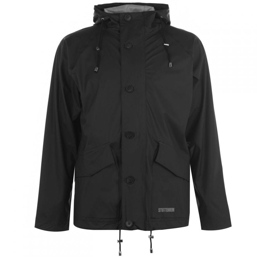 ストゥッテルハイム Stutterheim メンズ レインコート アウター【Stenhemra Lightweight Rain Jacket】Black
