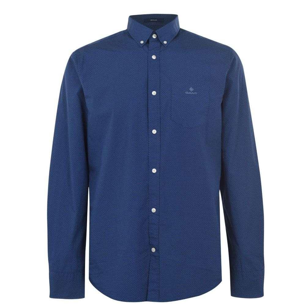 ガント Gant メンズ シャツ トップス【Micro Dot Shirt】Dark Blue