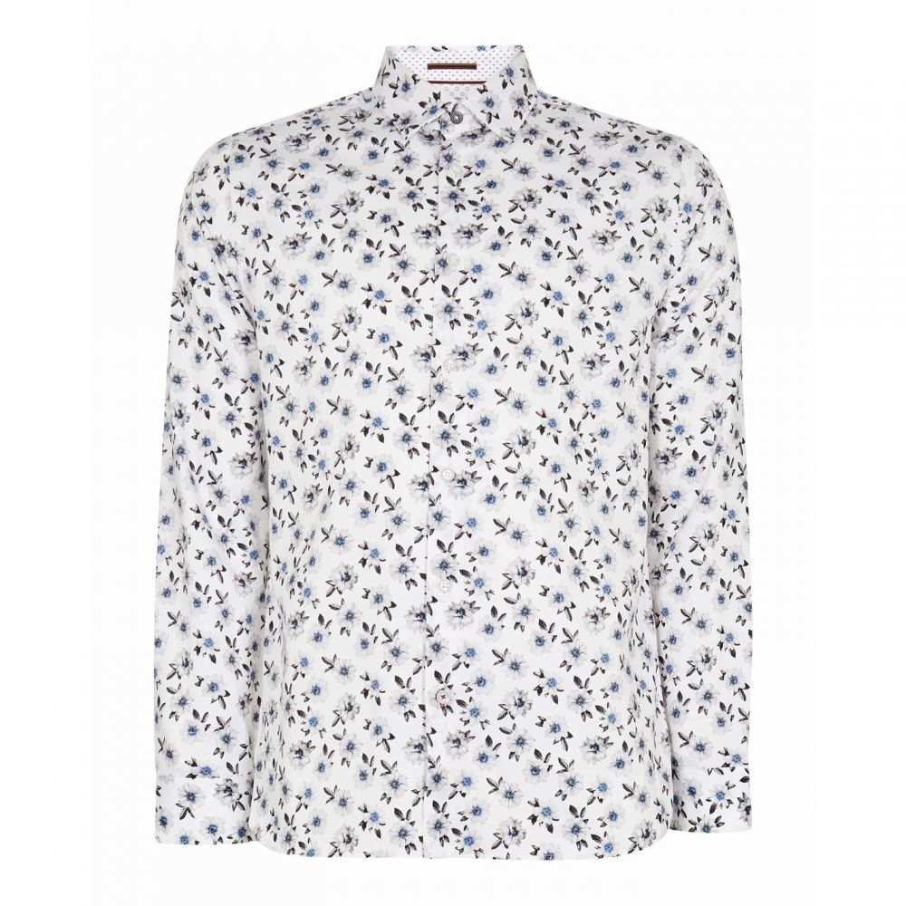 テッドベーカー Ted Baker メンズ シャツ トップス【Wewill Floral Print Cotton Shirt】WHITE