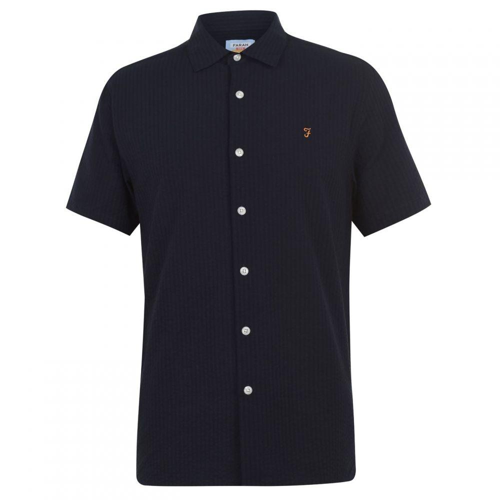 ファーラーヴィンテージ Farah Vintage メンズ シャツ トップス【Seersucker Shirt】True Navy