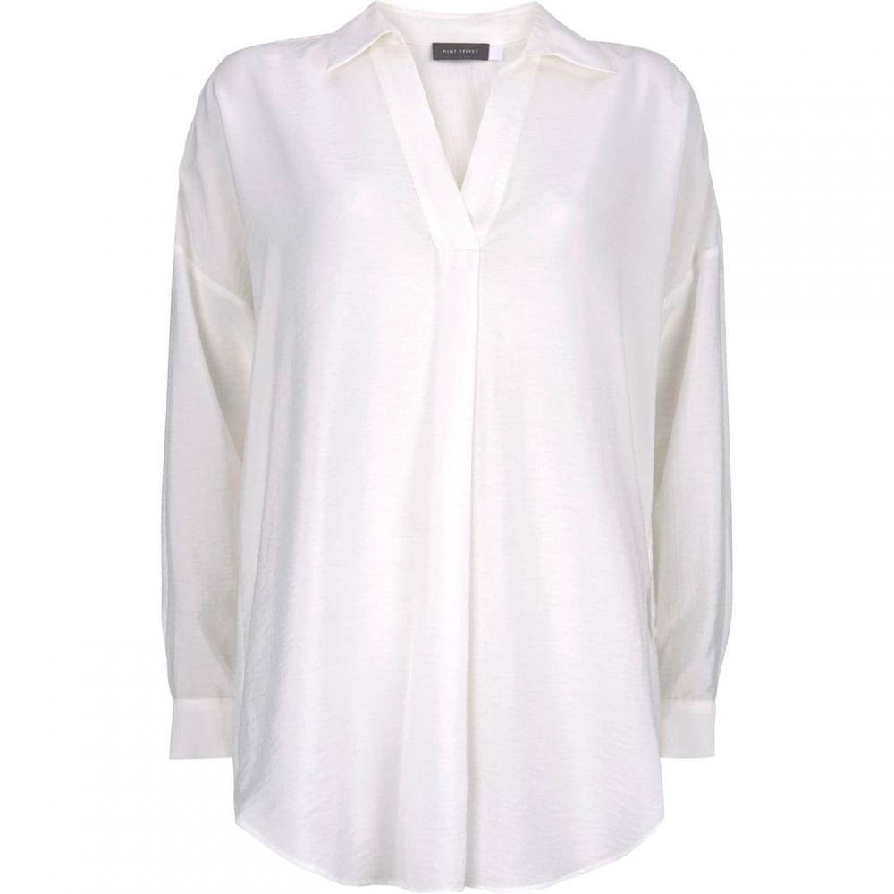 ミルトン ベルベット Mint Velvet レディース ブラウス・シャツ トップス【Ivory Oversized Shirt】Ivory
