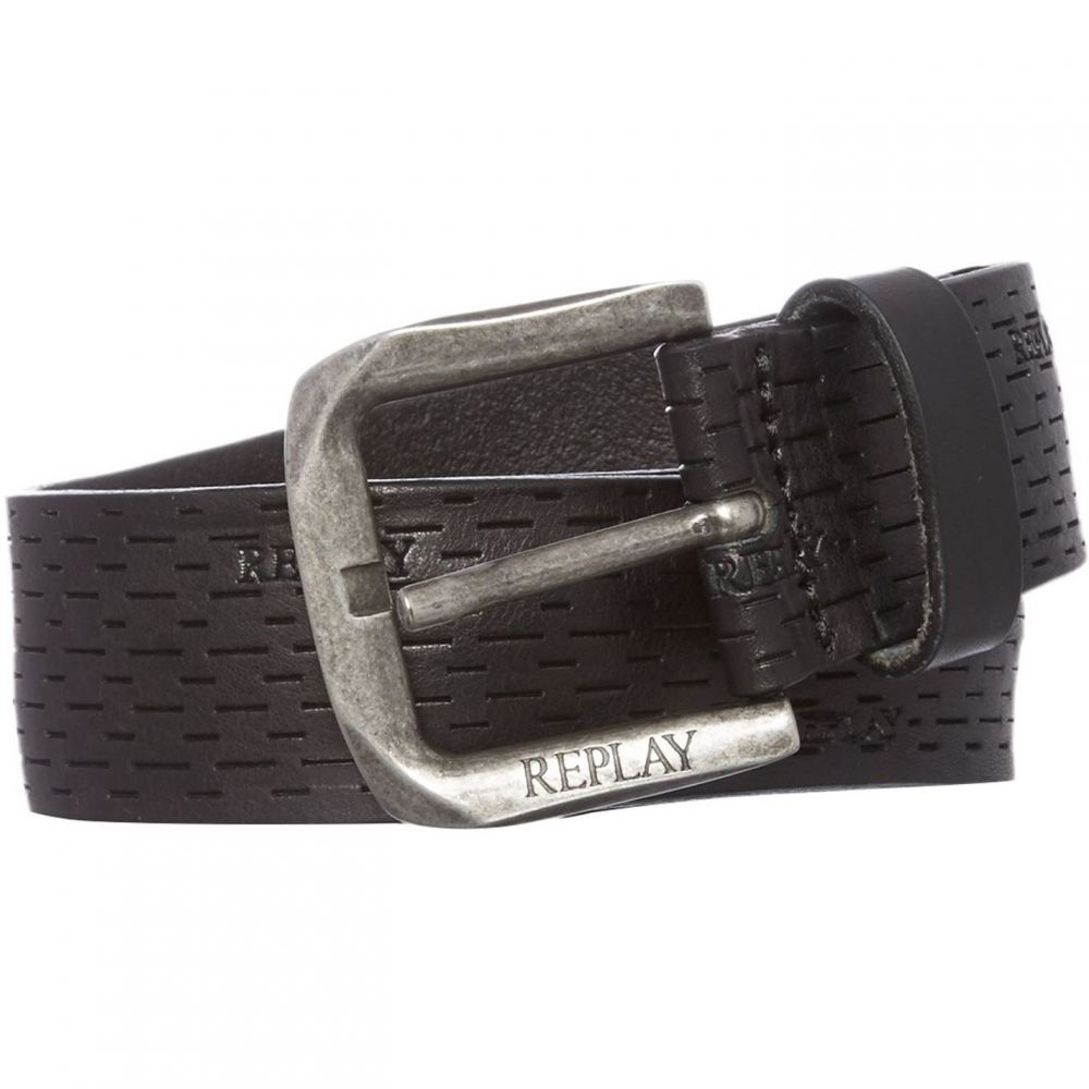 リプレイ Replay メンズ ベルト 【Douglas Leather Belt】Black
