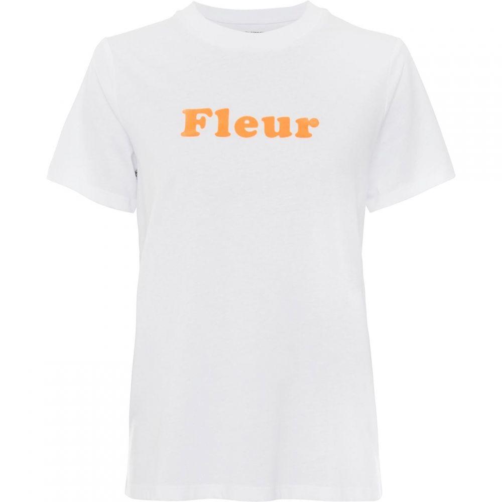 フレンチコネクション French Connection レディース Tシャツ トップス【French Slogan Fleur T-Shirt】Linen White/Fiery Coral