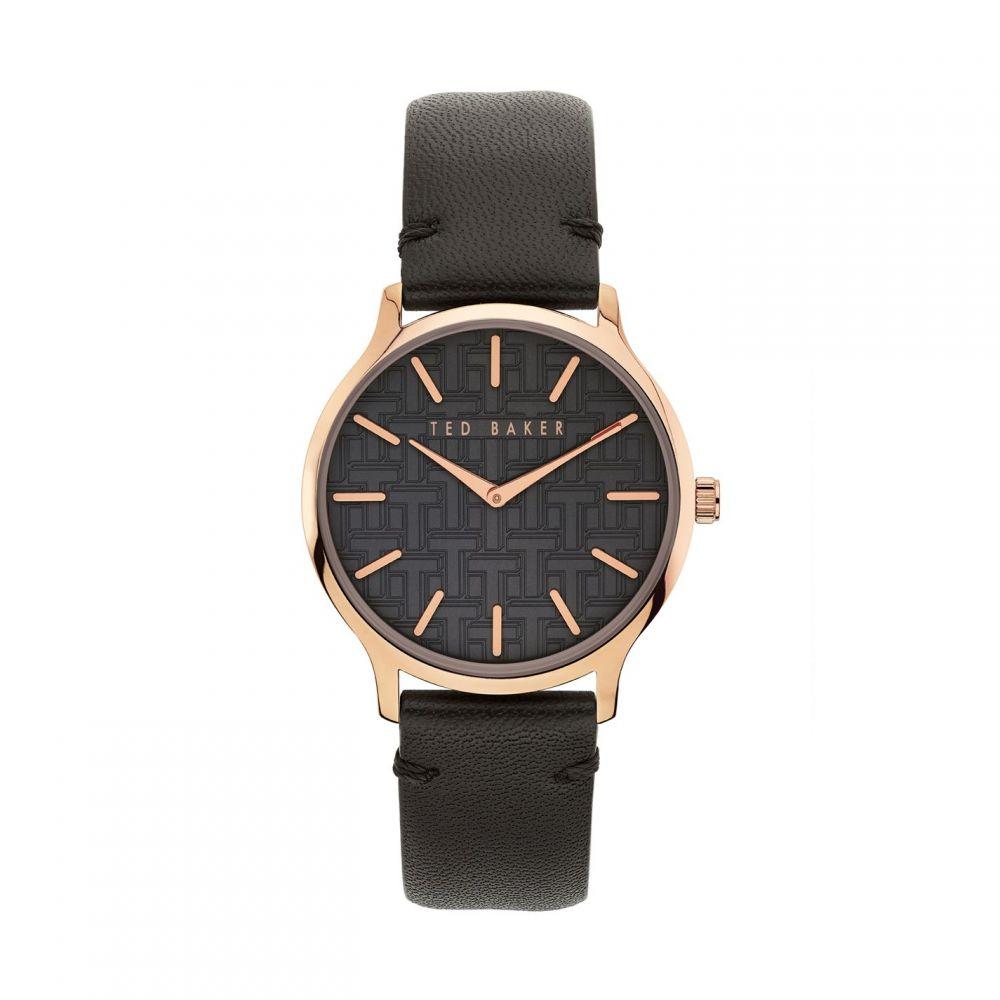 テッドベーカー Ted Baker メンズ 腕時計 【Black dial and grey strap watch】METALLICS