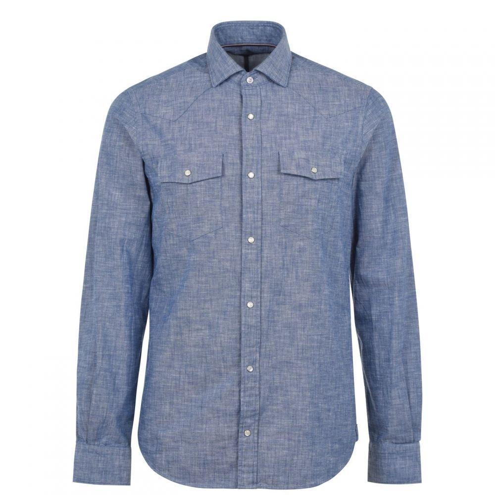 トミー ヒルフィガー Tommy Hilfiger Tailoring メンズ シャツ トップス【Long Sleeve Slim Fit Shirt】Sky C