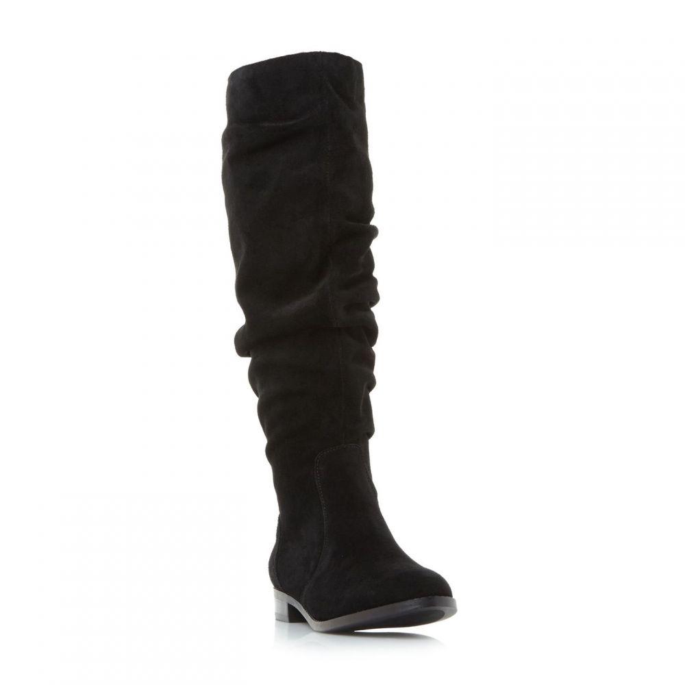 スティーブ マデン Steve Madden レディース ブーツ シューズ・靴【Beacon Sm Flat Rouched Pull On Boots】Black