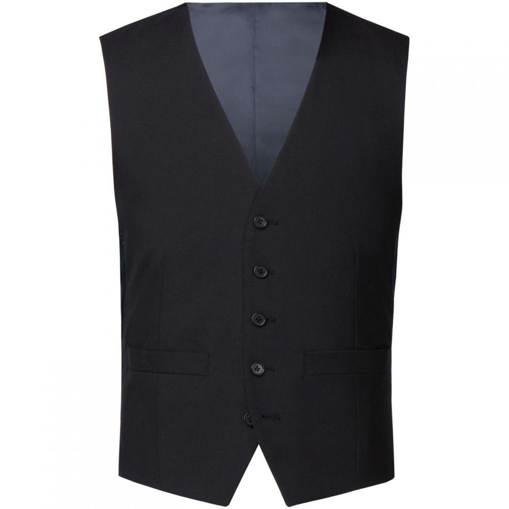 レーシング グリーン Racing Green メンズ ベスト・ジレ トップス【Anton Black Suit Waistcoat】Black