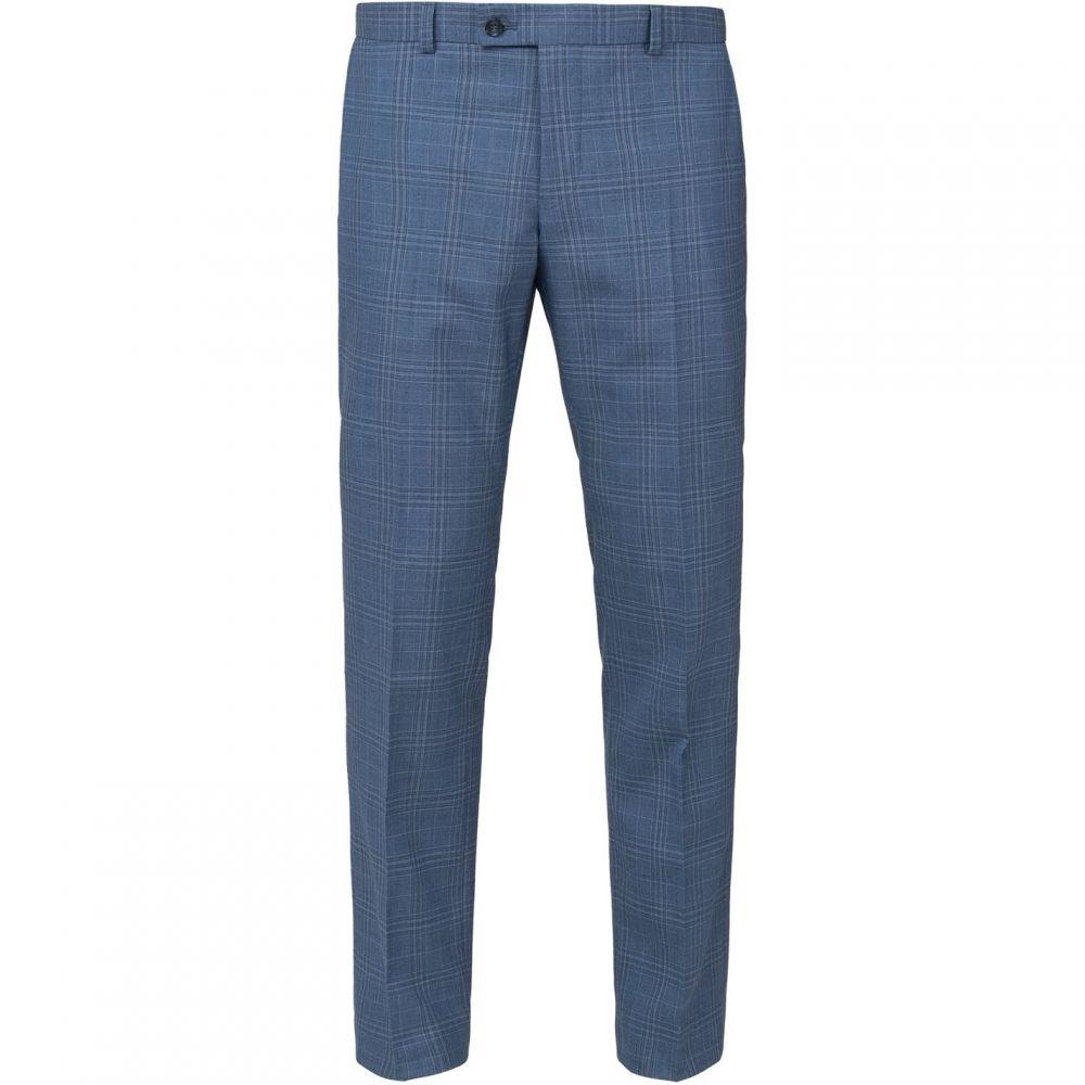 ベンシャーマン Ben Sherman メンズ スラックス ボトムス・パンツ【Light Blue Check Tailored Fit Trouser】Light Blue