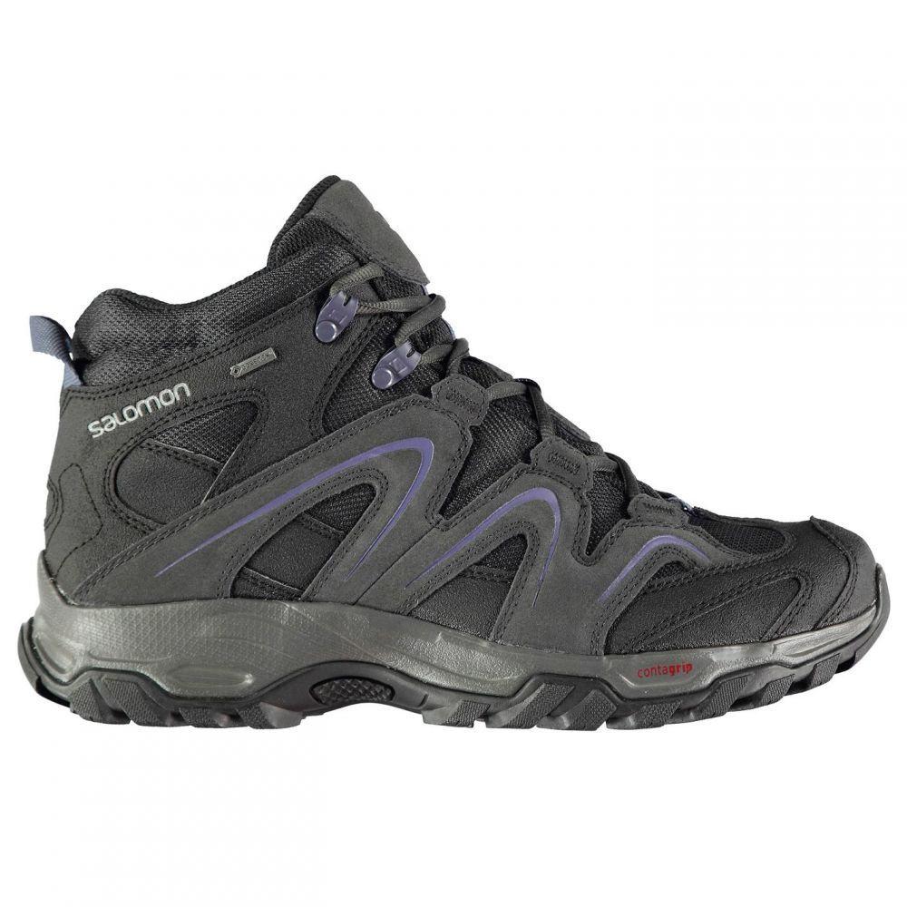 サロモン Salomon レディース ブーツ シューズ・靴【Vandon Mid GTX Walking Boots】Phantom/Blue
