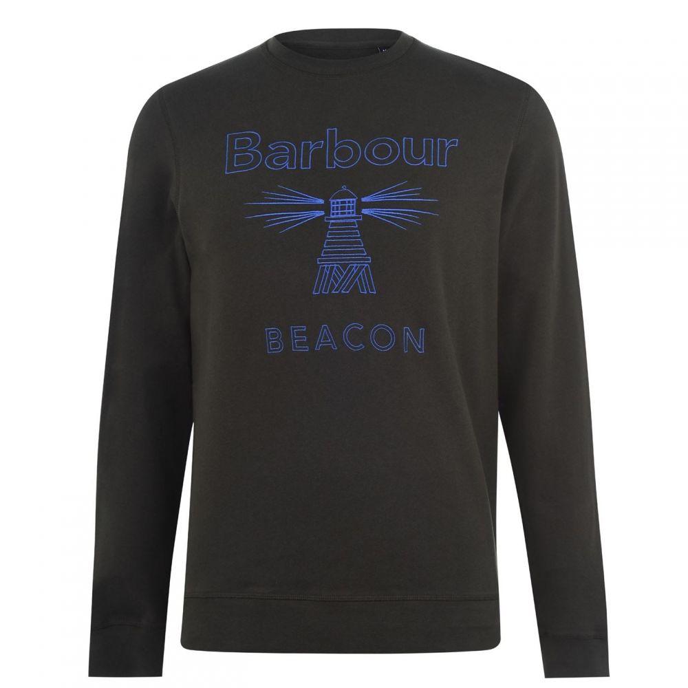バブアー Barbour Beacon メンズ スウェット・トレーナー トップス【Stitch Crew Sweatshirt】Forest GN
