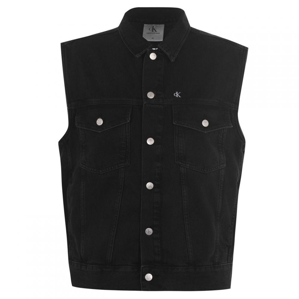 カルバンクライン Calvin Klein Jeans メンズ アウター 【Oversized Denim Vest】Black Stone