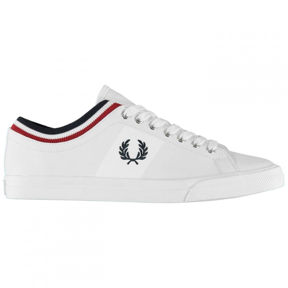 フレッドペリー メンズ シューズ 靴 スニーカー サイズ交換無料 Fred Tipped 限定価格セール Perry Traers Cuff 即出荷 White