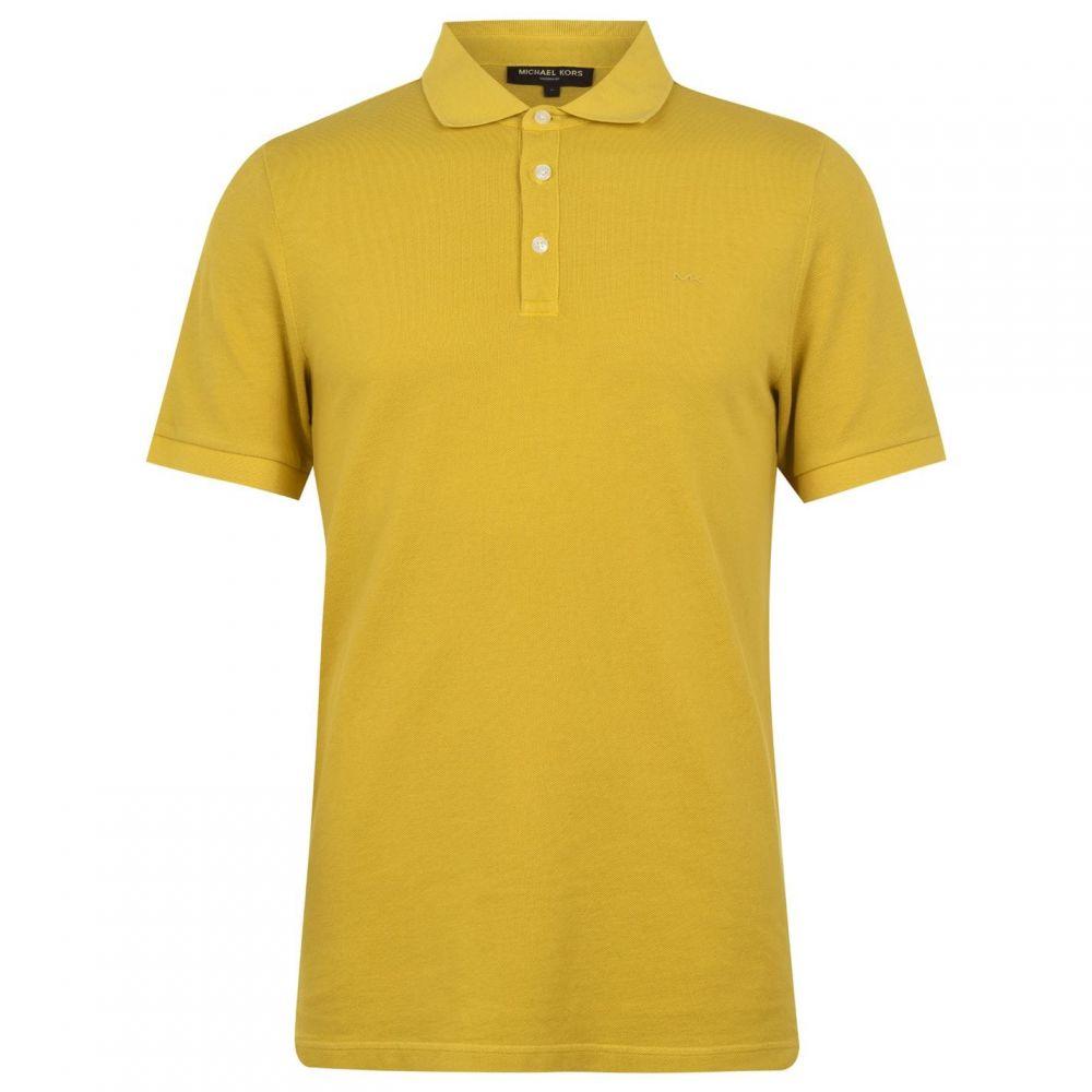 マイケル コース Michael Kors メンズ ポロシャツ トップス【Dye Polo Shirt】OilYellow