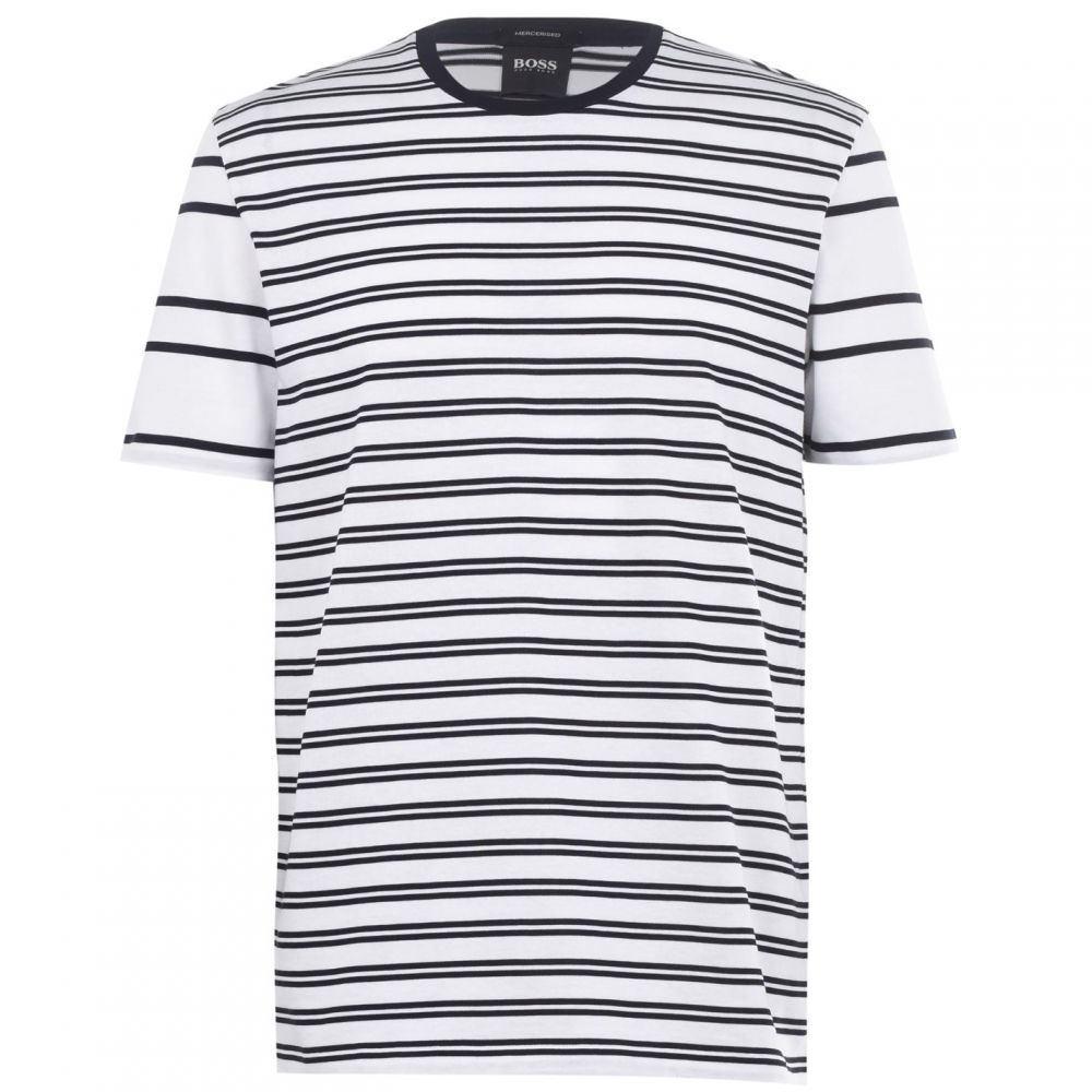 ヒューゴ ボス Boss メンズ Tシャツ トップス【Tiburt Striped T-Shirt】White