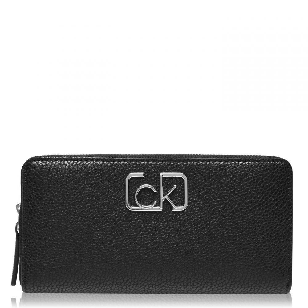 カルバンクライン Calvin Klein レディース 財布 【CK Cast L ZA】BLACK BDS