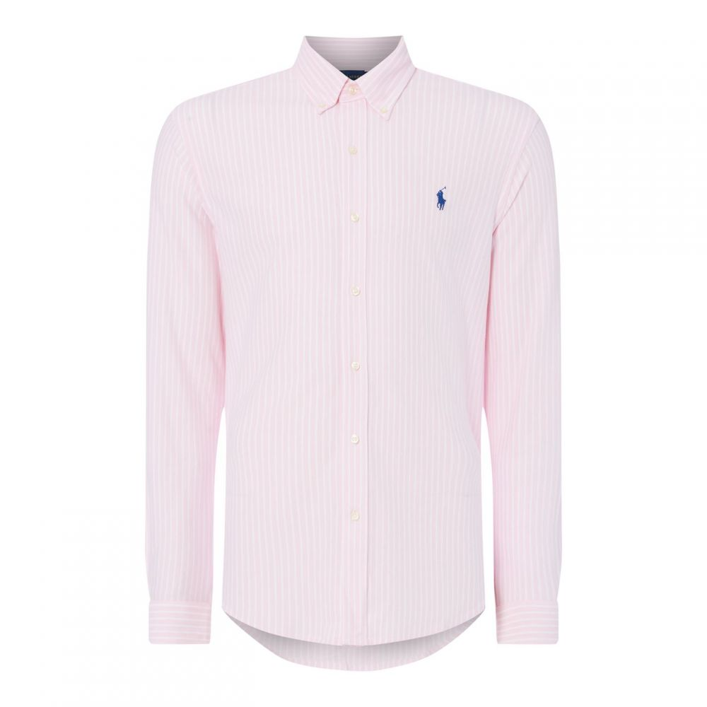 ラルフ ローレン Polo Ralph Lauren メンズ シャツ トップス【Polo Button Thru Sht S92】Pink/White