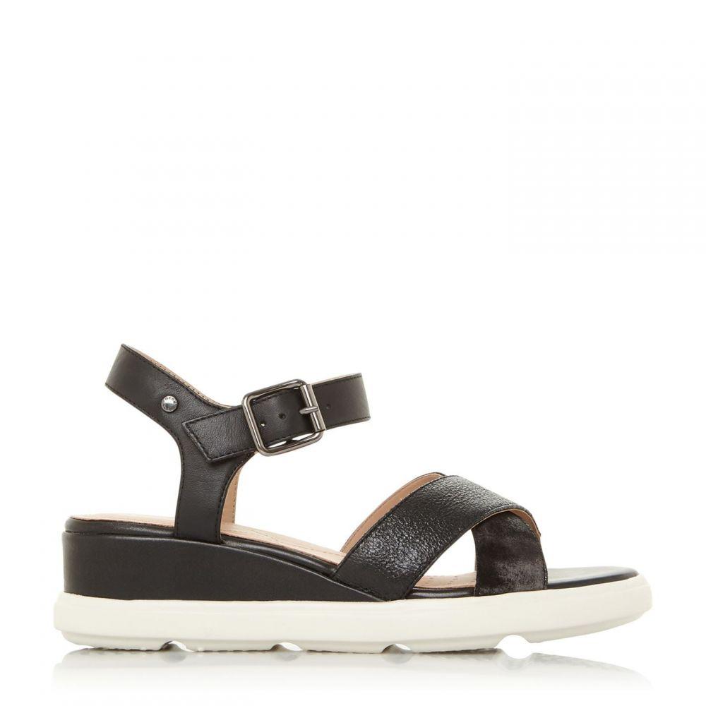 ジェオックス Geox レディース サンダル・ミュール ウェッジソール シューズ・靴【D Pisa D Wedge Buckle Sandals】Black
