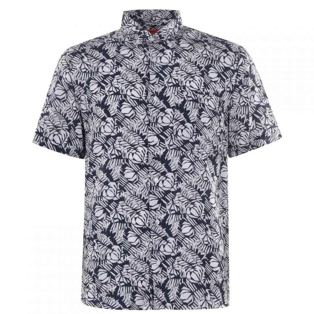 ヒューゴ ボス HUGO メンズ シャツ トップス【Ekilio Prt Shirt】Blue Print