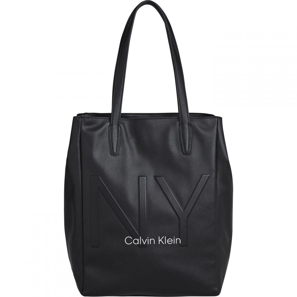 【新作からSALEアイテム等お得な商品満載】 カルバンクライン Calvin Klein レディース バッグ 【CK NY Shaped NS Tot】BLACK BAX, 川崎エンジニアリング bcef13ce