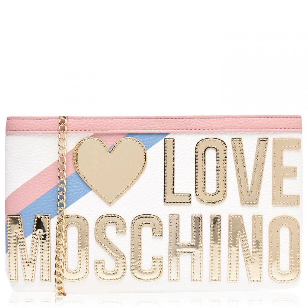モスキーノ Love Moschino レディース ショルダーバッグ バッグ【Love Gold Heart Cross Body Zip Top Bag】FANTASY A