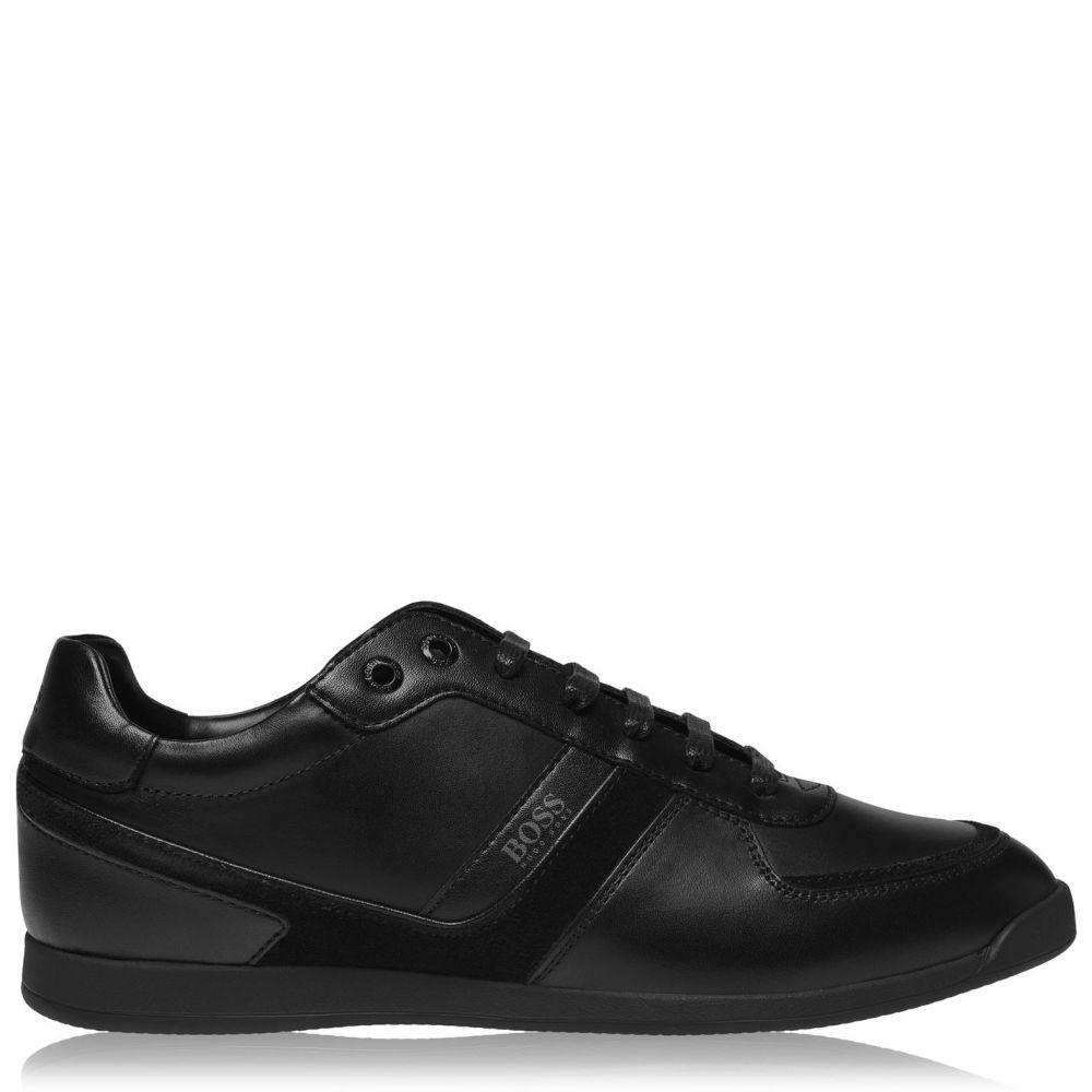 ヒューゴ ボス BOSS メンズ スニーカー シューズ・靴【Glaze Leather Traers】Black