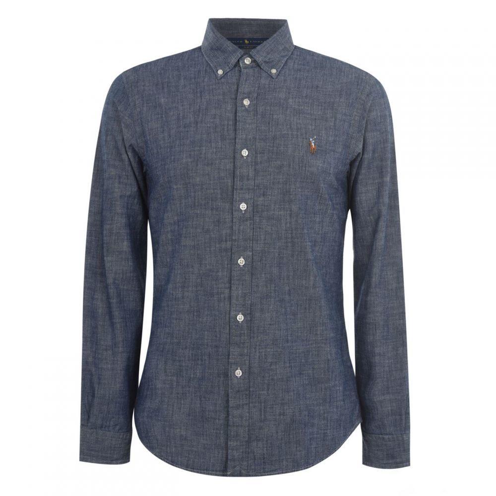 ラルフ ローレン Polo Ralph Lauren メンズ シャツ シャンブレーシャツ トップス【Polo Chambray Shirt Sn02】Dark Indigo