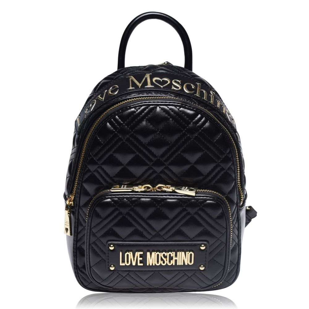 モスキーノ Love Moschino レディース バックパック・リュック バッグ【PV Medium Backpack】BLACK NERO
