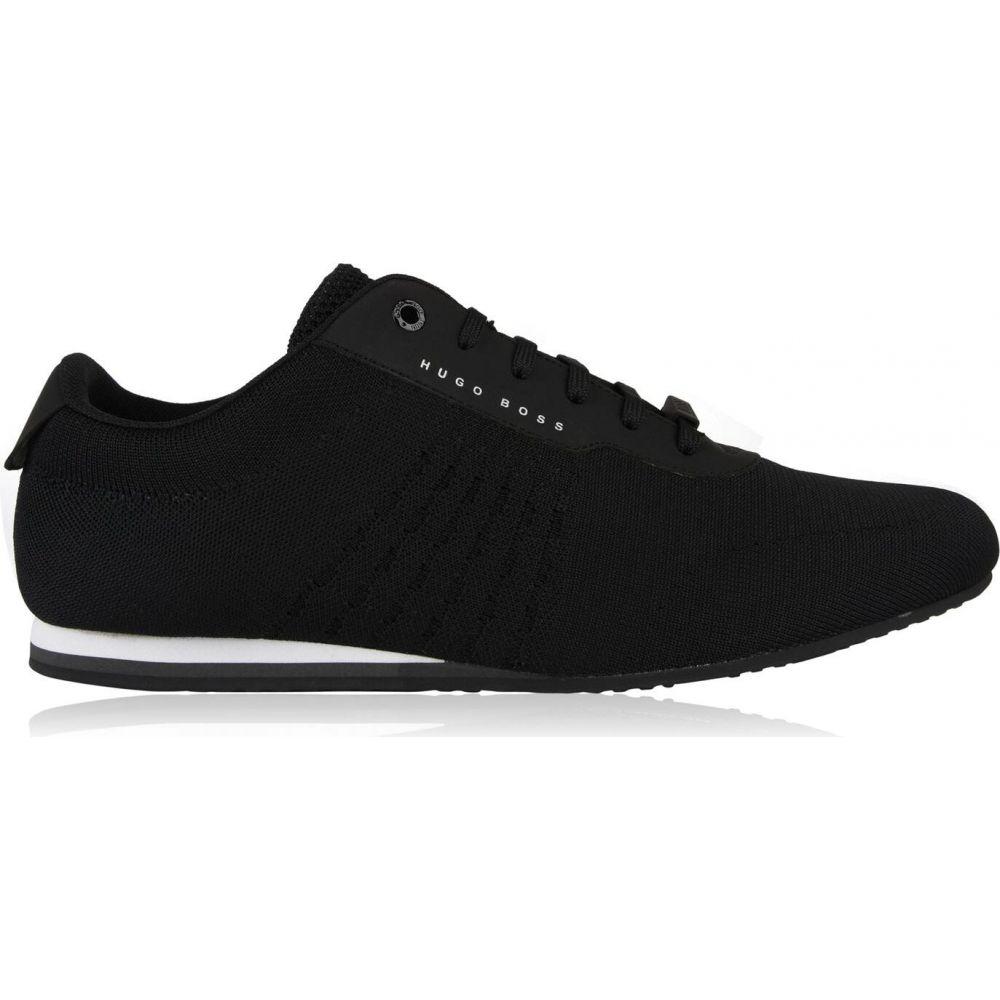 ヒューゴ ボス BOSS メンズ スニーカー ローカット シューズ・靴【low top knit trainers】Black