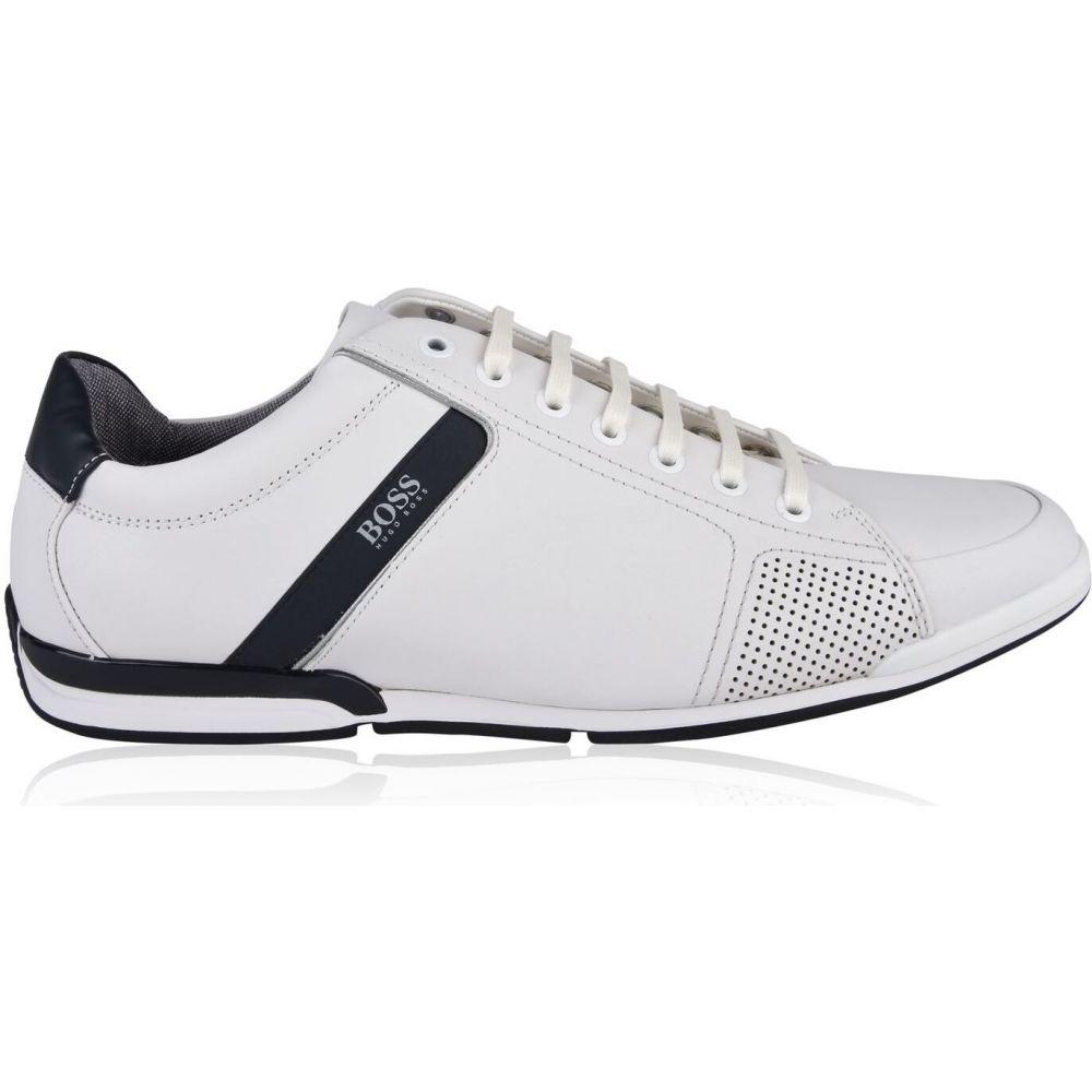ヒューゴ ボス BOSS メンズ スニーカー ローカット シューズ・靴【saturn leather low top trainers】White