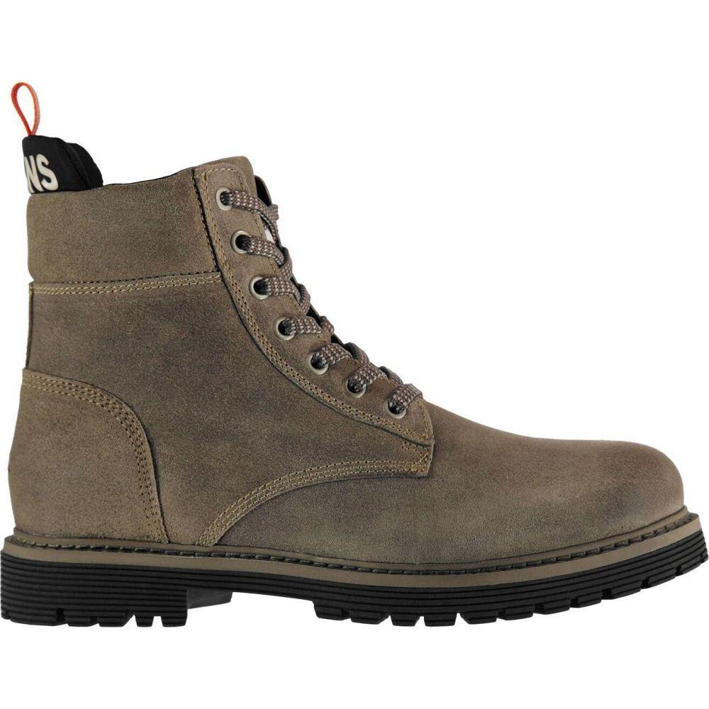 トミー ジーンズ Tommy Jeans メンズ ブーツ シューズ・靴【louis suede boot】Dusty Olive