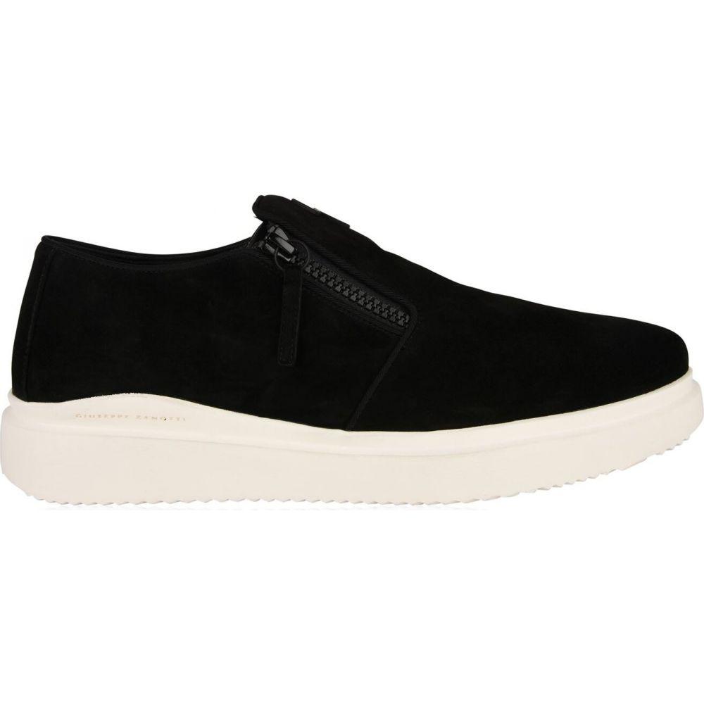 ジュゼッペ ザノッティ GIUSEPPE ZANOTTI メンズ スリッポン・フラット シューズ・靴【suede slip on trainers】Black