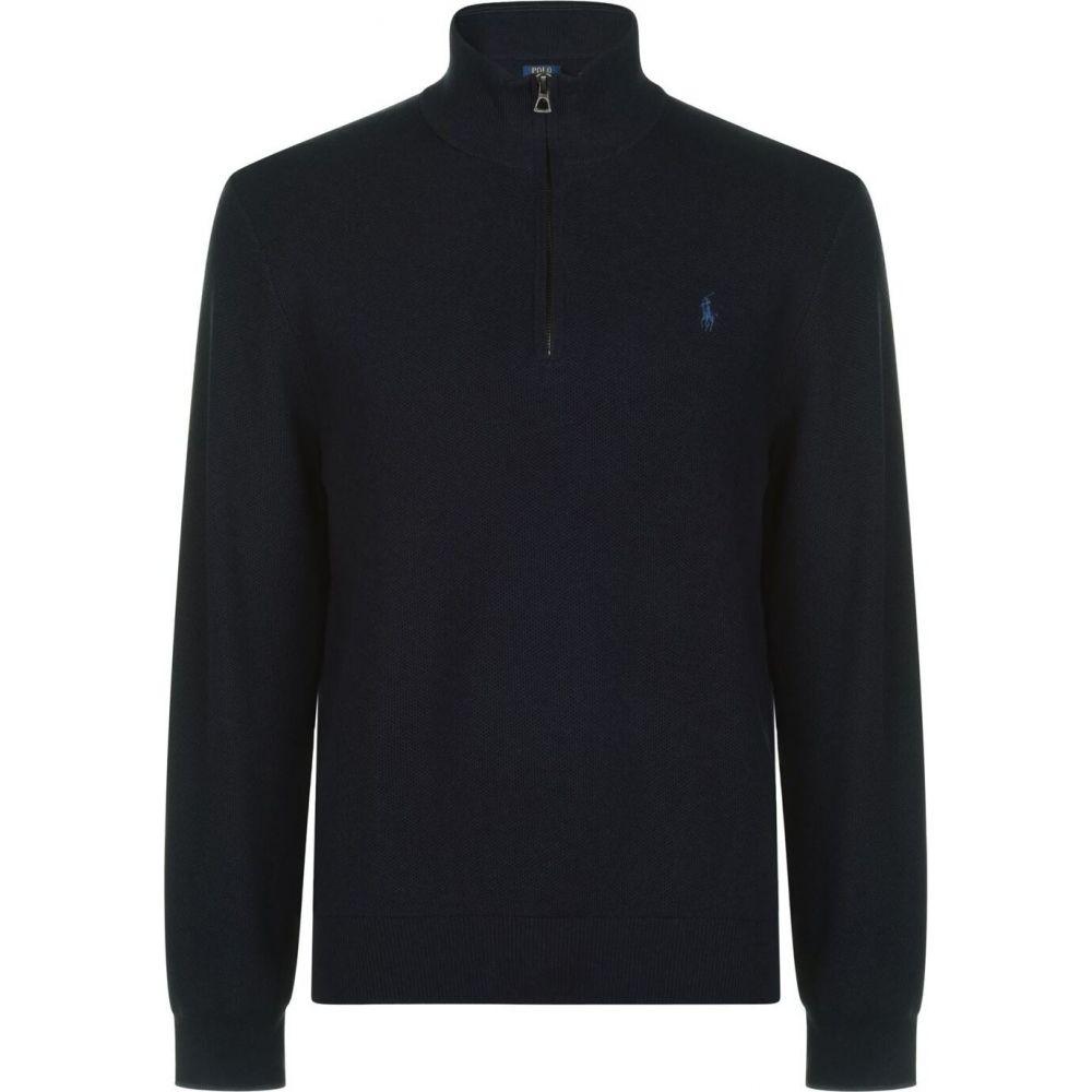 ラルフ ローレン Polo Ralph Lauren メンズ スウェット・トレーナー トップス【half zip cotton sweatshirt】Navy Heather