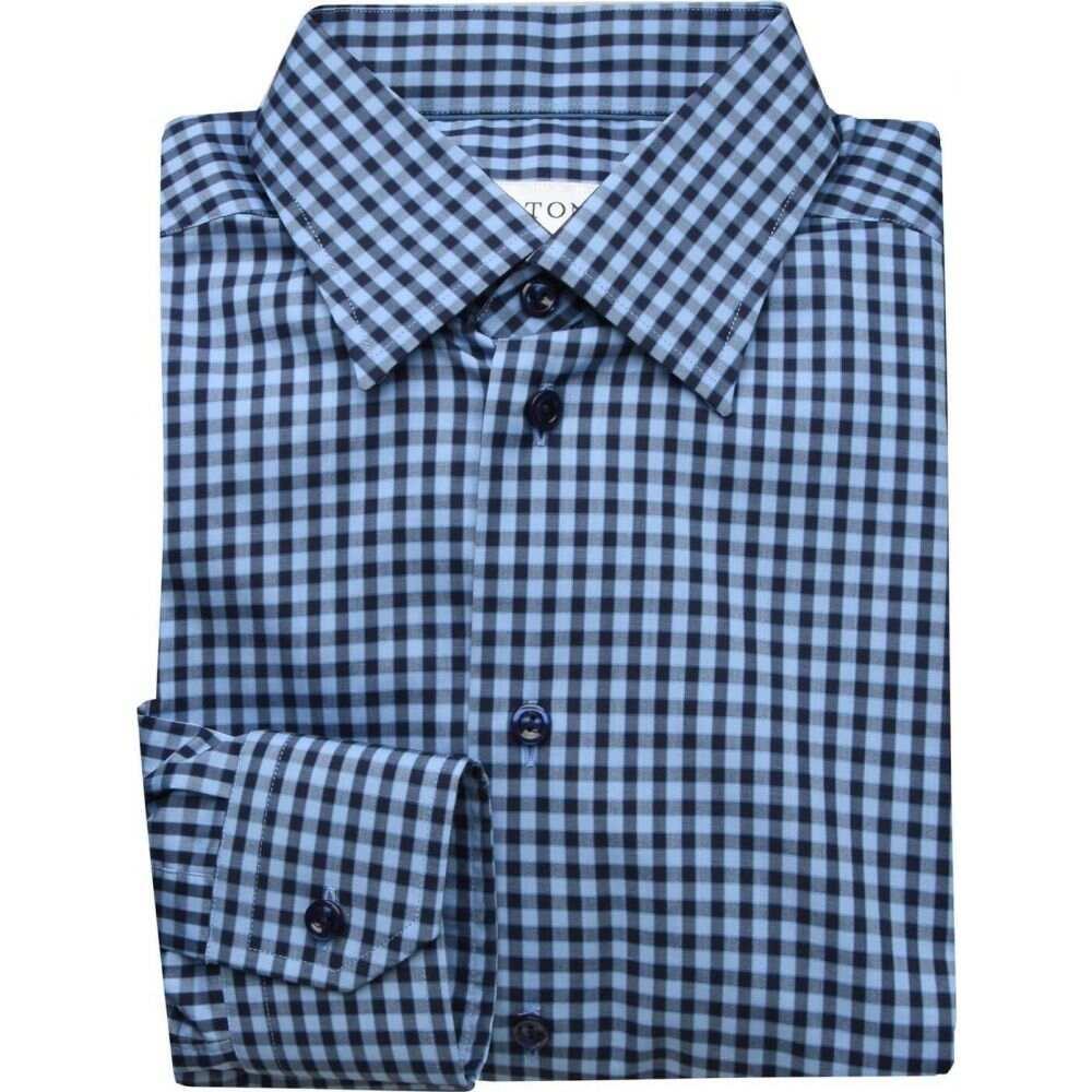 イートン ETON メンズ シャツ トップス【super slim fit checked shirt】Blue Check