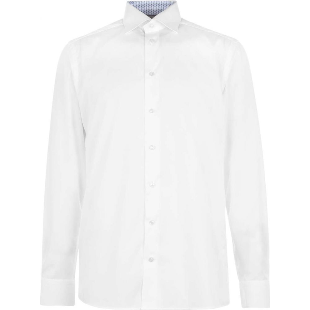 shirt】White トップス【geo tipped Eton メンズ シャツ イートン
