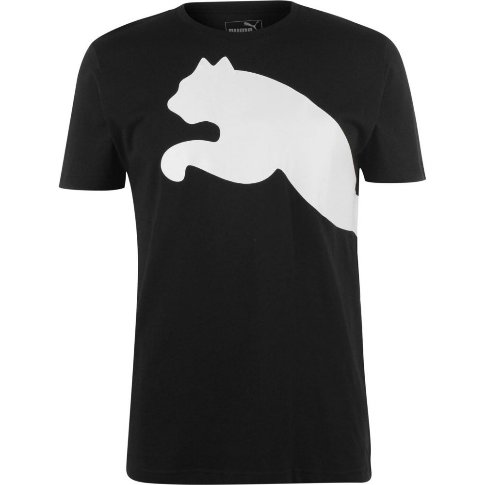 プーマ 買収 メンズ トップス Tシャツ 返品送料無料 Black White サイズ交換無料 Big Shirt Puma Cat QT T