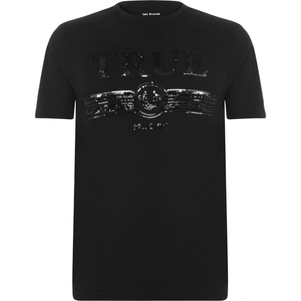 トゥルー レリジョン TRUE RELIGION メンズ Tシャツ トップス【sequin true t shirt】Black