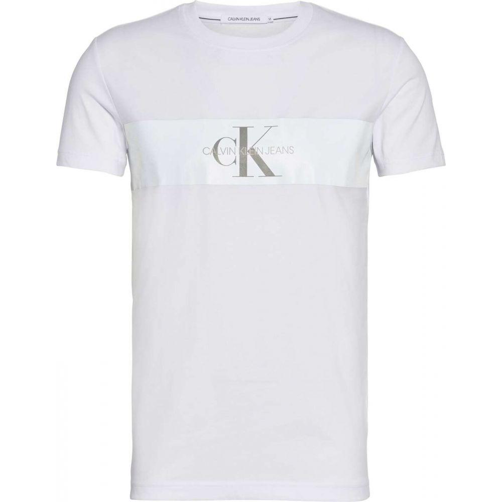 カルバンクライン Calvin Klein Jeans メンズ Tシャツ トップス【reflective strip mono t shirt】Bright White